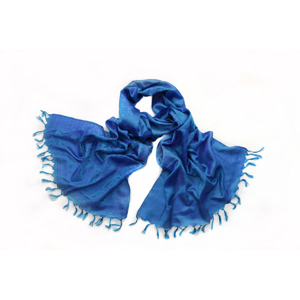 Blue Silk Scarf|Varanasi|India