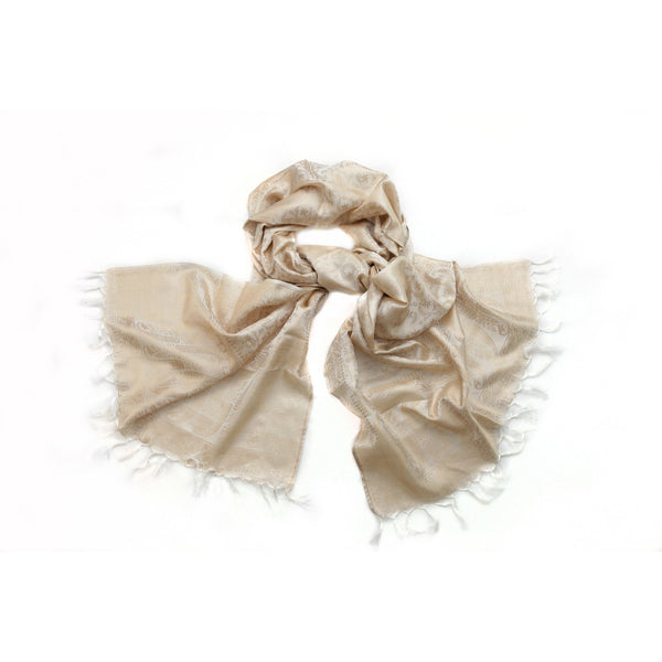 White Silk Scarf|Varanasi|India