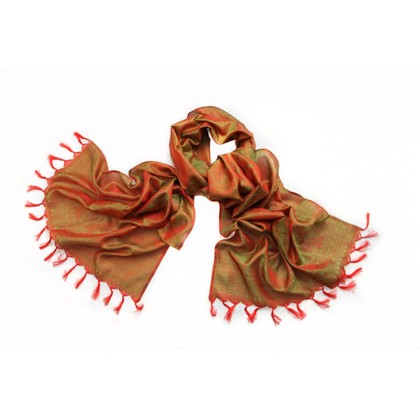 Orange Silk Scarf|Varanasi|India