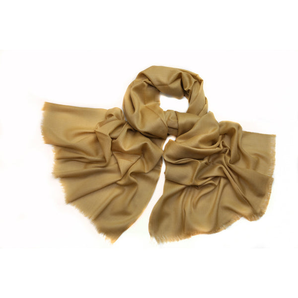 100% Cashmere Scarf Tan Color|Varanasi|India