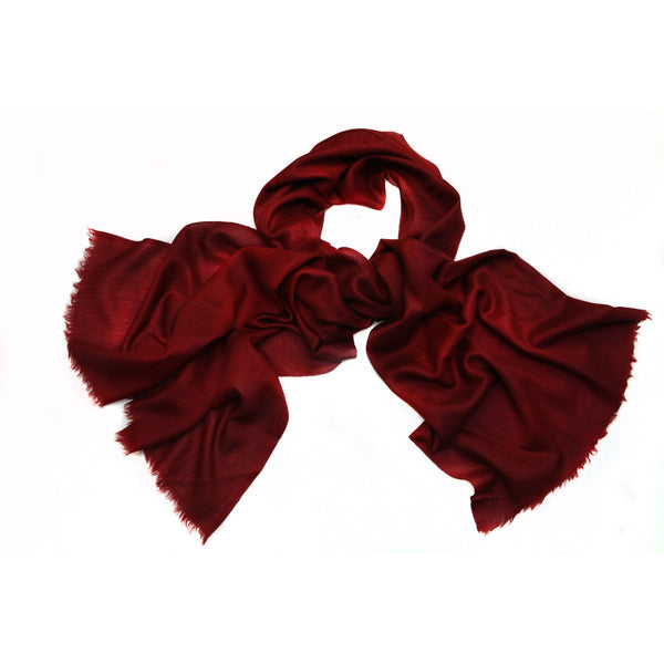 100% Cashmere Red Scarf|Varanasi|India