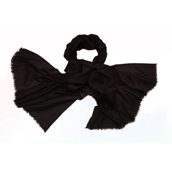 100% Cashmere Black Scarf|Varanasi|India