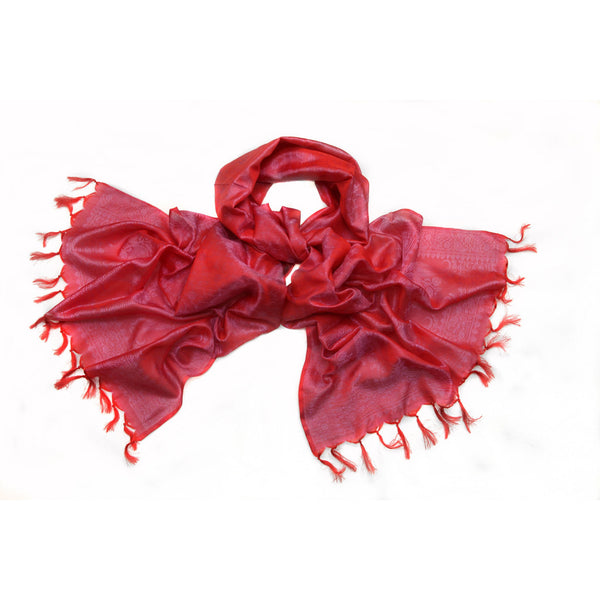 Red Silk Scarf|Varanasi|India