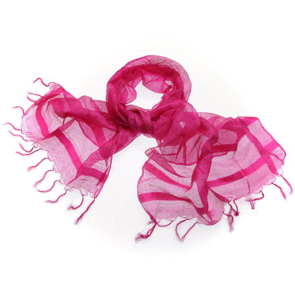 Magenta Sheer Silk Scarf|Varanasi|India