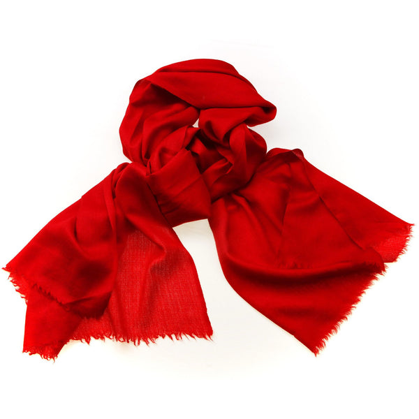 100% Cashmere Scarf Red Color|Varanasi|India