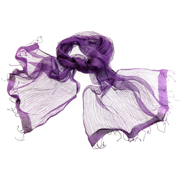 Purple Sheer Silk Scarf|Varanasi|India