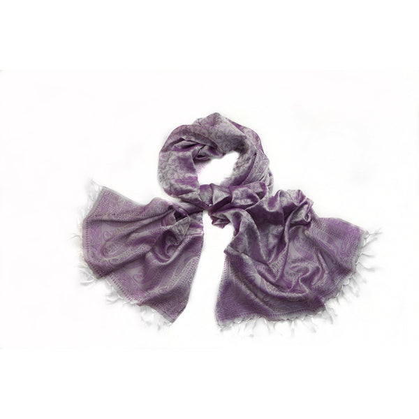 Purple Silk Scarf|Varanasi|India