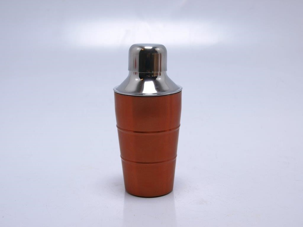 Cocktailshaker 300ml rvs koperkleur