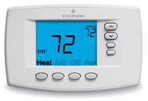"1F95EZ-0671  White Rogers Programmable, 2H/2C, EASY READER Blue Digital  6"" Thermostat"