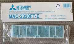 MAC-2330FT-E MITSUBISHI Electrostatic Anti-Allergy Enzyme Filter ( 1 Piece)