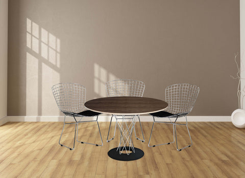 5 Piece Typhon dining set with CAD Wire chairs, Dining Set  - Bachelor Haus