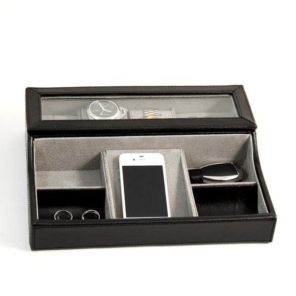 Valet Case with with watch compartment, Accessories  - Bachelor Haus