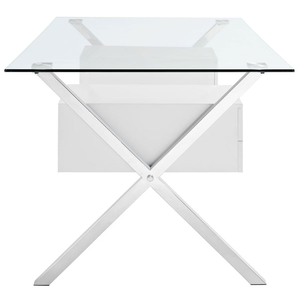 White Abeyance home office desk, Accent  - Bachelor Haus