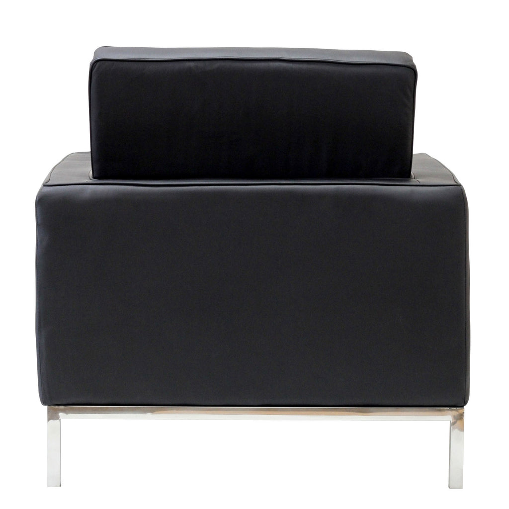 Black leather arm chair - Mid Century Black Leather Armchair Chair Bachelor Haus