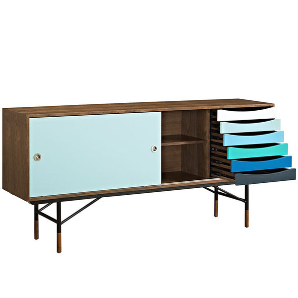Mid-century entertainment center