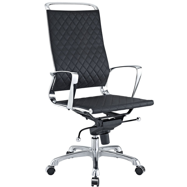 Black Quilted high back office chair, Office Chair   - Bachelor Haus
