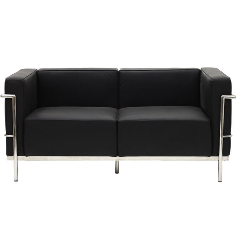 Black LC3 Love seat, Sofa  - Bachelor Haus