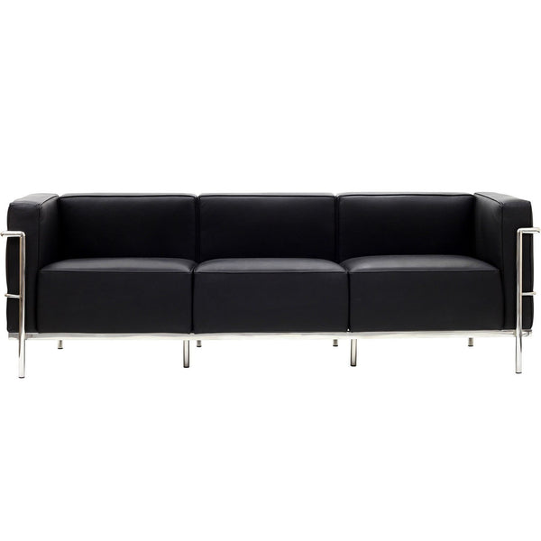 LC3 Black leather sofa, Sofa  - Bachelor Haus