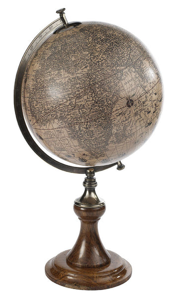 A Hondius French Globe, Accent  - Bachelor Haus