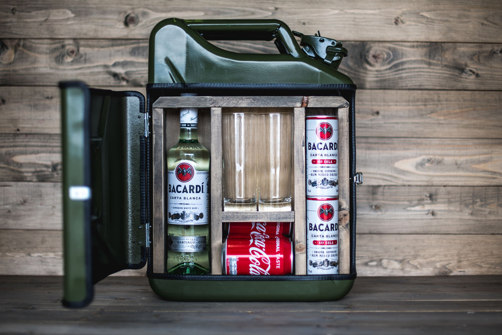 Olive Jerry Can Mini Bar Bachelor Haus