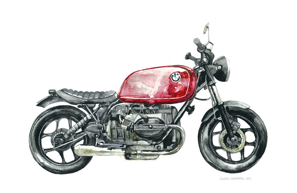 "BMW Motorcycle ""Lady in Red"", Artwork  - Bachelor Haus"