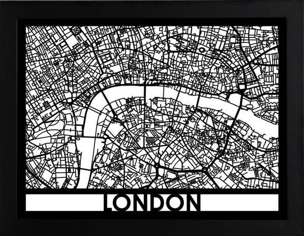 London Laser Cut Map, Art  - Bachelor Haus