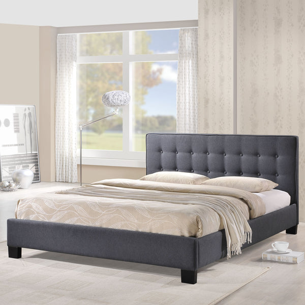 Catilin Gray Queen bed frame, Bed frame   - Bachelor Haus