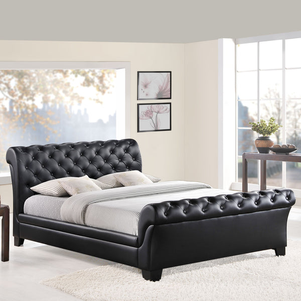 Kate Black Queen bed frame, Bed frame   - Bachelor Haus