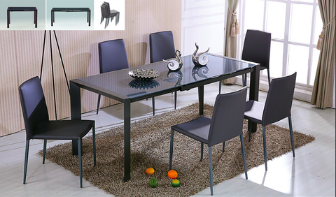 Carbon Dining Set with Table and 4 Chairs, Dining Set  - Bachelor Haus
