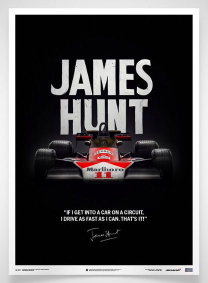 Officially licensed by McLaren Racing Limited and James Hunt Racing