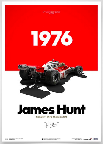 Formula 1 Racing James Hunt Print