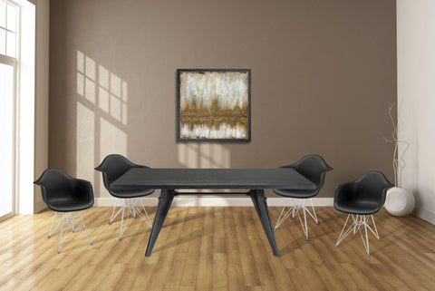Clasp 6 piece dining set with Paris chairs, and artwork, Dining Set  - Bachelor Haus