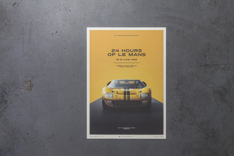 Ford GT40 Le Mans Yellow, Artwork  - Bachelor Haus