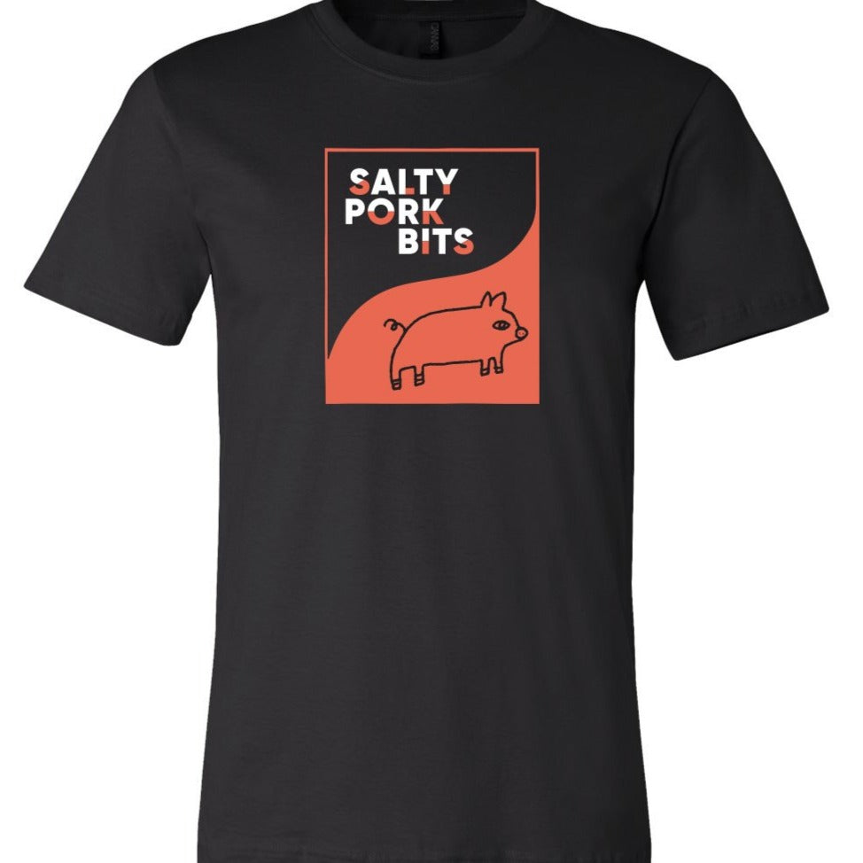 Salty Pork Bits Black T-Shirt