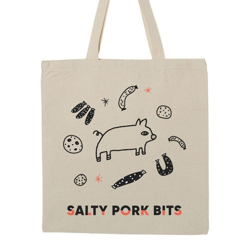 Salty Pork Bits Tote Bag