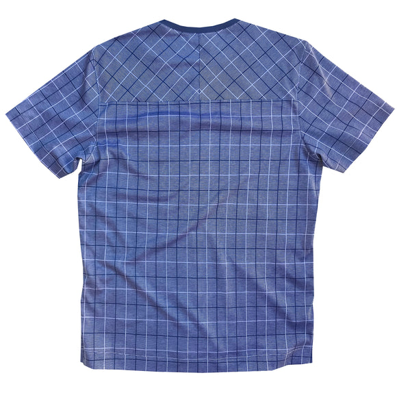 Pocket Run Shirt: Blue Plaid