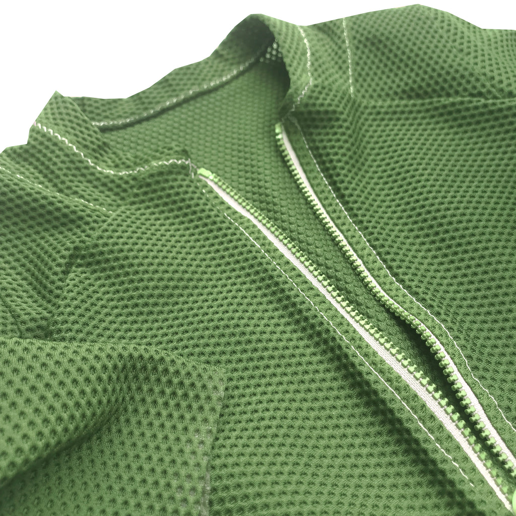 Garment Dyed Air Jersey: Meadow Green