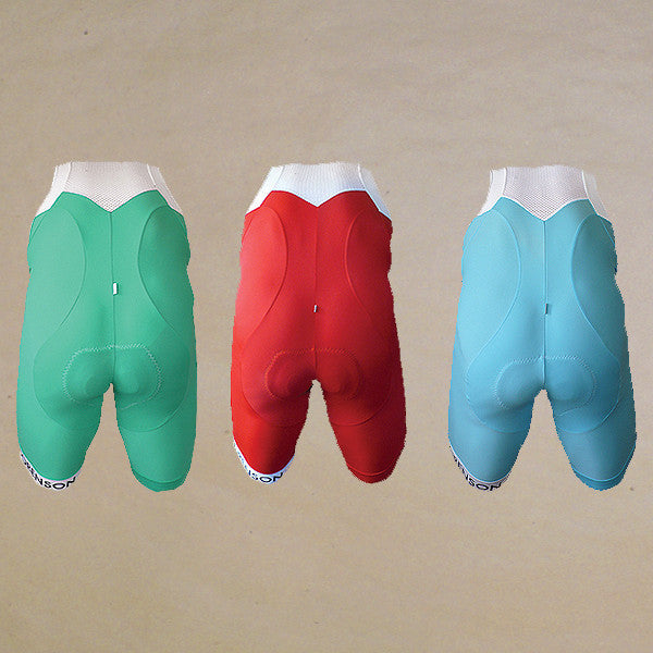 Colorblock Bib Shorts: BLUE