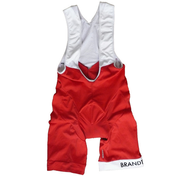 Colorblock Bib Shorts: RED
