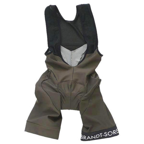 Luxury Bib Shorts: Taupe