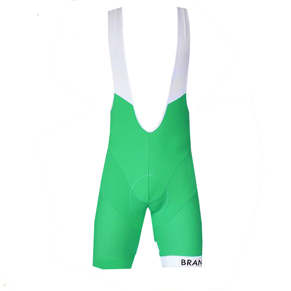 Colorblock Bib Shorts: Green 2011