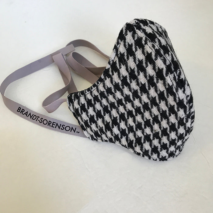 3 Layer Houndstooth Wool Mask
