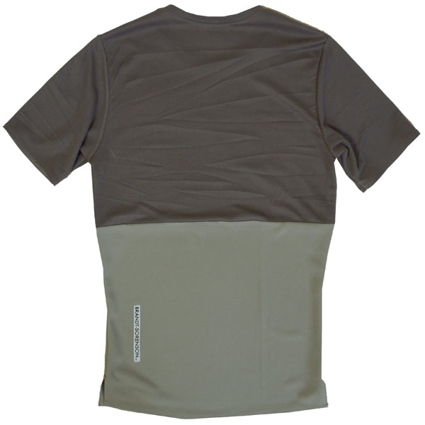 Split Shirt: Dark Taupe/Light Taupe