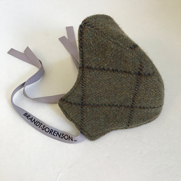 3 Layer Plaid Cashmere Wool Mask