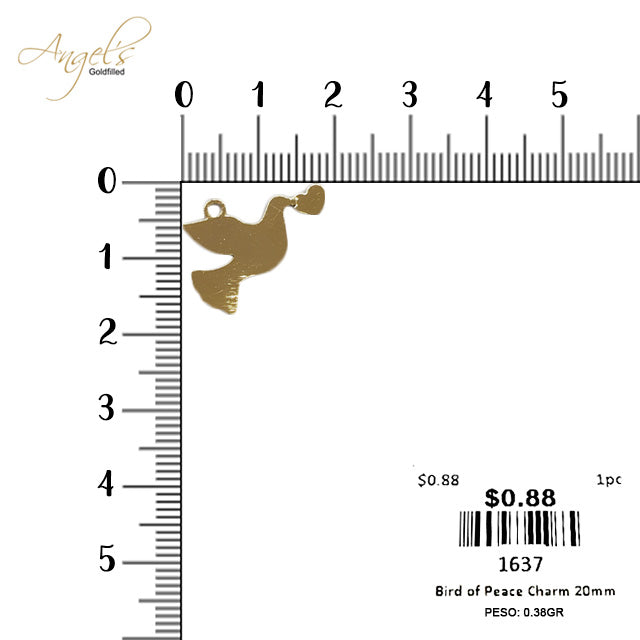Bird of Peace Charm 20mm - 1637