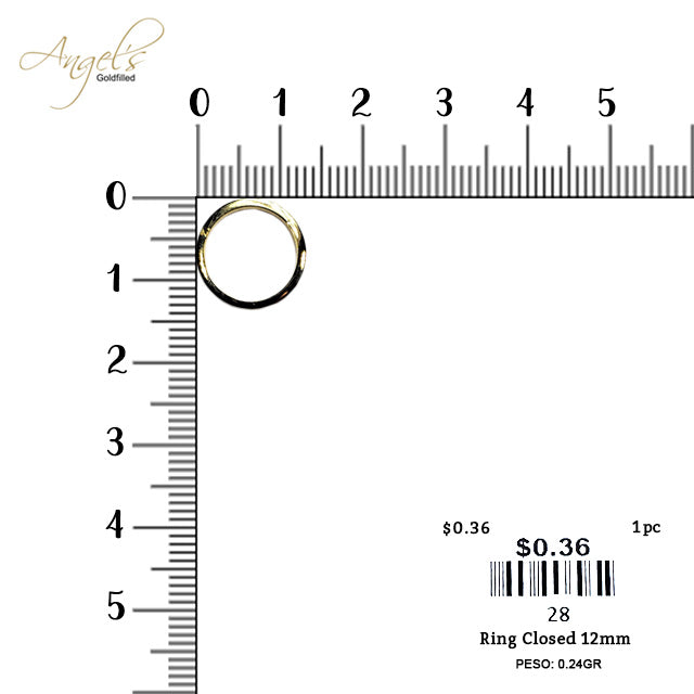 Ring Closed 12mm - 28