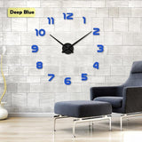 YourWorldShop blue / 47inch 3D Wall Clock 8137120-blue-47inch