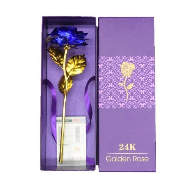 YourWorldShop Blue/box 24K Rose Gold Rose 14535874-l1-united-states