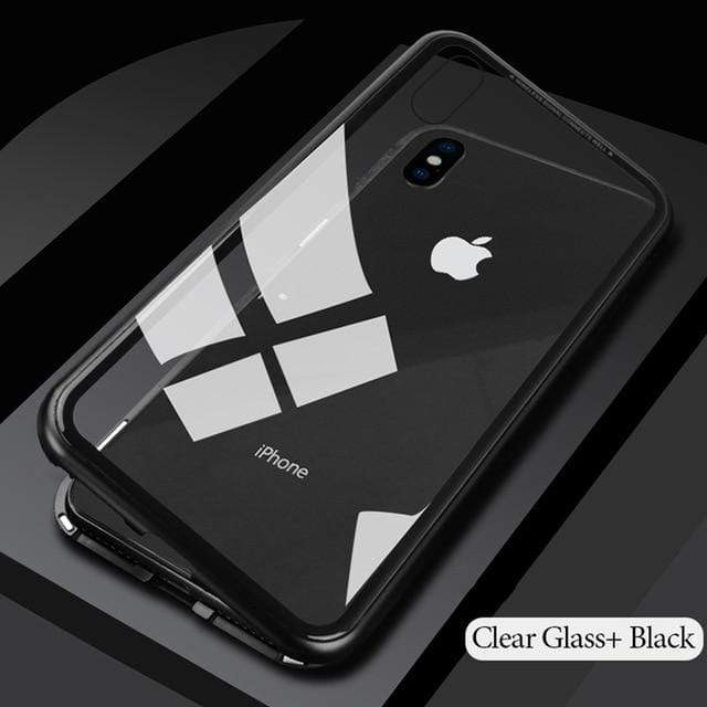 YourWorldShop Clear Black / For iPhone X / With Front Glass Luxury Magnetic Case for iPhone X™ 16906013-clear-black-for-iphone-x-with-front-glass