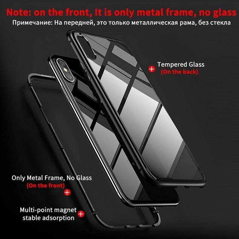 YourWorldShop Full Black / For iPhone X / No Front Glass Luxury Magnetic Case for iPhone X™ 16906013-full-black-for-iphone-x-no-front-glass